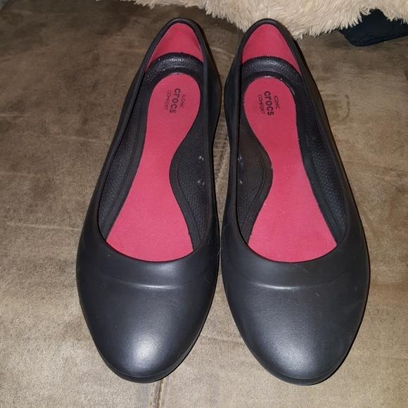 96e623677570 CROCS Shoes - Crocs Lina Flat Black Size 10